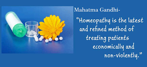 Gandhi over Homeopathie
